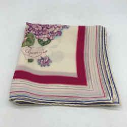 Gucci Ivory Silk Floral Scarf