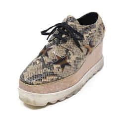 Stella McCartney Animal Print Vegan Leather Sneakers Sz 38