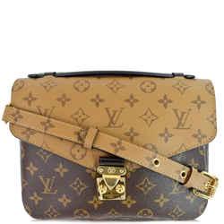 Louis Vuitton Metis Pochette Reverse Monogram Canvas Crossbody Bag Brown