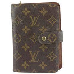 Louis Vuitton Monogram Zip Compact Wallet Paper 210lvs714