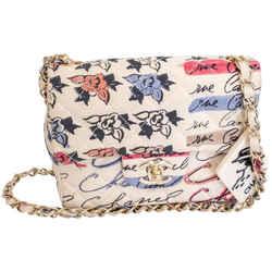 Chanel Graffiti Coco Cambon Printed Mini 2005 Multicolor Fabric Shoulder Bag
