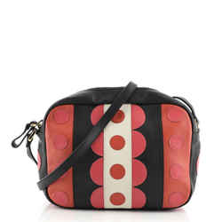 Camera Bag Leather with Applique Small