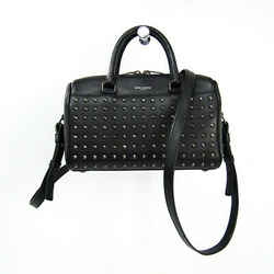 Saint Laurent Baby Duffle 332423 Women's Leather Studded Handbag,Should BF509982