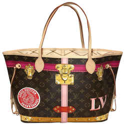 "Louis Vuitton Neverfull Trunks Mm Summer Collection 2018 Limited Edition Monogram Canvas Tote 12.6""l X 6.7""w X 11.4""h"