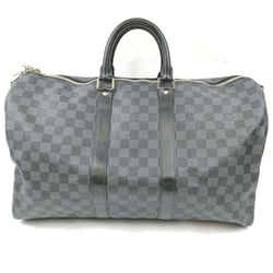 Louis Vuitton Damier Graphite Keepall Bandouliere 45 Duffle Bag 862681