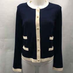 Tory Burch Navy Pearl Button XL