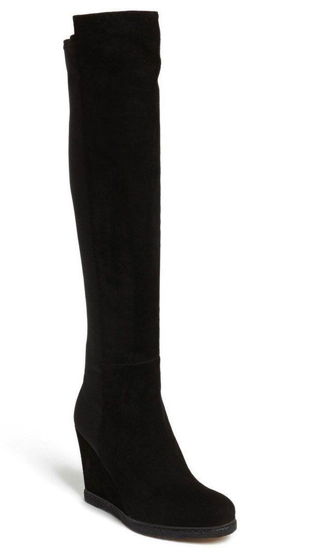 Over Knee Wedge Boots Sz