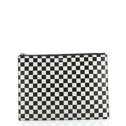 Zip Pouch Printed Leather Medium