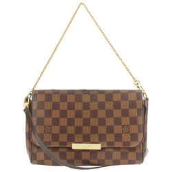 Louis Vuitton Damier Ebene Favorite MM 2way Crossbody Flap Bag 857624