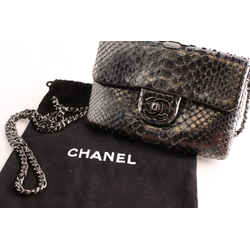 Chanel Python Leather Clutch