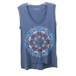 Zadig & Voltaire Blue Cotton Print Tank Top sz 4