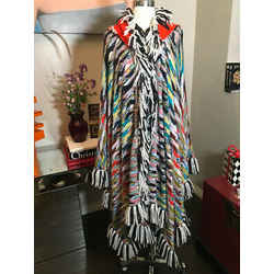 Missoni Multi-color Fringe Cashmere Wool Knit Cape Poncho 2400-375-122819