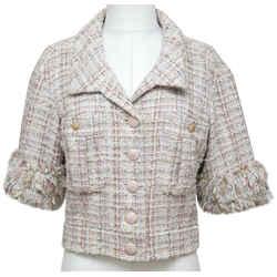 CHANEL Tweed Jacket Blazer Fantasy Multi-Color Cropped 2013 RUNWAY 38