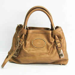 Chloe Women's Leather Handbag,Shoulder Bag Metallic Gold BF526114