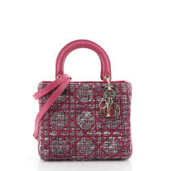 Lady Dior Bag Tweed with Leather Medium