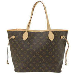 Auth Louis Vuitton Monogram Neverfull Mm Tote Bag M40995 Leather
