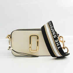 Marc Jacobs Snapshot M0012007 Unisex Leather Shoulder Bag Black,Ivory BF522866