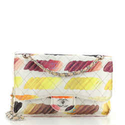 Colorama Flap Bag Quilted Watercolor Canvas Jumbo