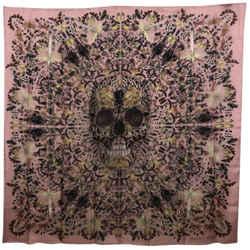Alexander Mcqueen And Damien First Limited Edition 100% Silk Judecca Skull Scarf