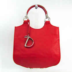 Christian Dior Women's Leather Handbag Red BF507638