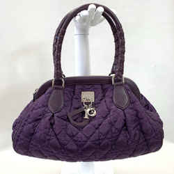 Authentic Dior Purple Nylon Cannage Tote
