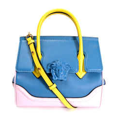 Versace Tricolor Calfskin Medium Palazzo Empire Bag