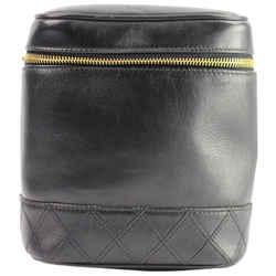 Chanel Black Lambskin Csometic Case CC Vanity Tote 3CCA1014