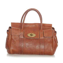 Vintage Authentic Mulberry Brown Calf Leather Bayswater Handbag China