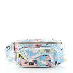 Zip Pocket Waist Bag Printed Leather