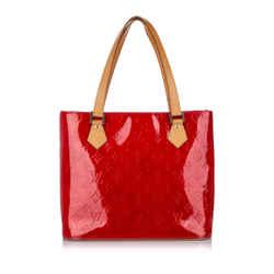 Red Louis Vuitton Vernis Houston Bag