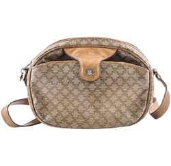 Celine Vintage Shoulder Bag Brown/Mocha One Size Authenticity Guaranteed