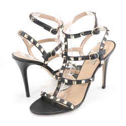 Valentino Garavani Rockstud Calfskin Leather Sandals