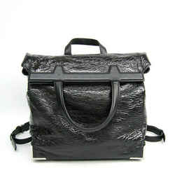 Alexander Wang Unisex Leather Backpack,tote Bag Black Bf502951