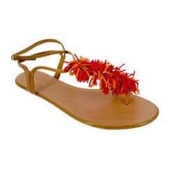Aquazzura<br>Wild Thing T-Strap Sandals<br>Size: 9.5   EU 39.5