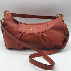 Coach Orange Leather Hobo