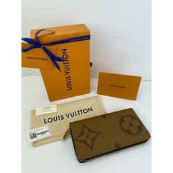 Louis Vuitton Zippy Wallet Giant Monogram Reverse Canvas M69353 New A465
