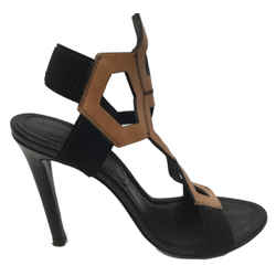 Dirk Bikkembergs - Black And Tan Stiletto Sandals - Size 10 - Like New
