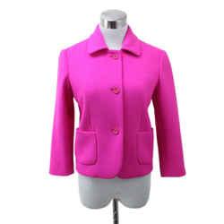 Michael Kors Hot Pink Virgin Wool Blazer Sz 2