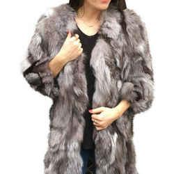 Anna Sui Multi-color Fur Coat Size: 2 (XS) Length: Mid-Length