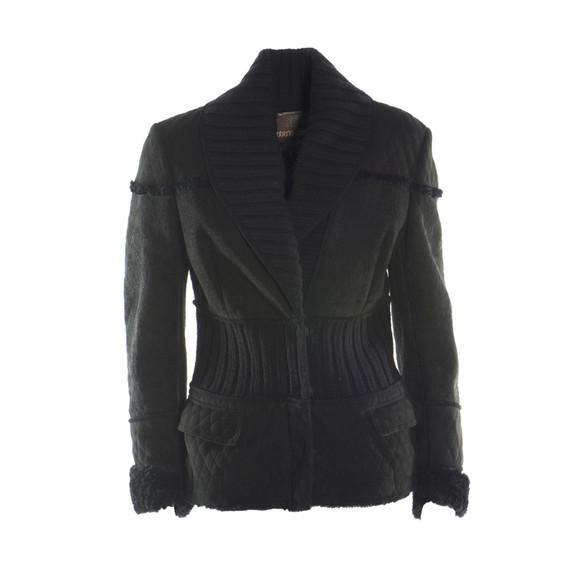 Black sheepskin jacket