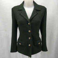 St John Green Knit Jacket 2