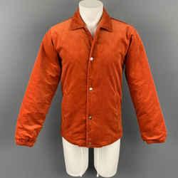 COMME des GARCONS SHIRT Size M Orange Corduroy Cotton Jacket