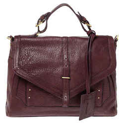 Tory Burch Purple Leather Top Handle Bag