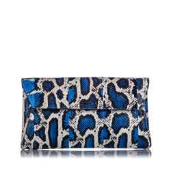 Vintage Authentic Alexander McQueen Blue Python Clutch Bag CHINA