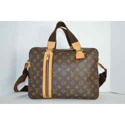 Louis Vuitton Brown Monogram Leather Shoulder Bag