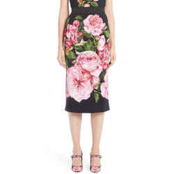 New Cady Rose Print Skirt