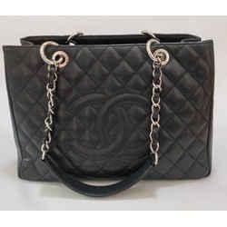 Chanel GST Grand Shopper Tote Black Caviar Leather Shoulder Tote Bag 2009