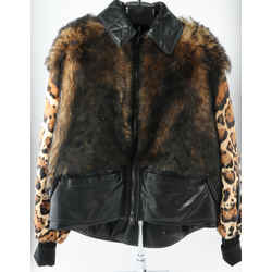 Tom Ford Ocelot Printed Puffer Coat In Cognac