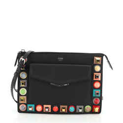 Front Pocket Crossbody Bag Studded Leather Small