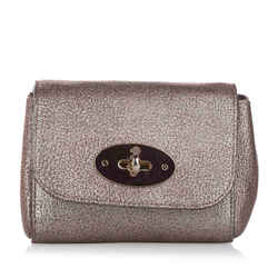 Gold Mulberry Mini Lily Leather Crossbody Bag